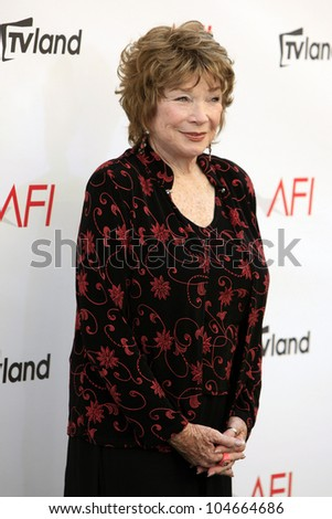 CULVER CITY - JUN 7: Shirley MacLaine at the 40th AFI Life Achievement Award honoring Shirley MacLaine held at Sony Pictures Studios on June 7, 2012 in Culver City, California - stock photo
