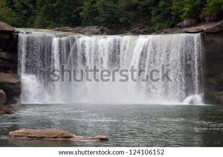Cumberland Falls - stock photo