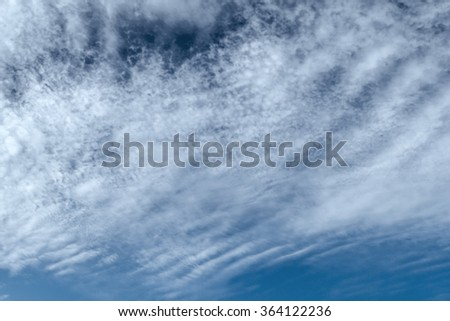 Cumulus clouds in the morning sky - stock photo