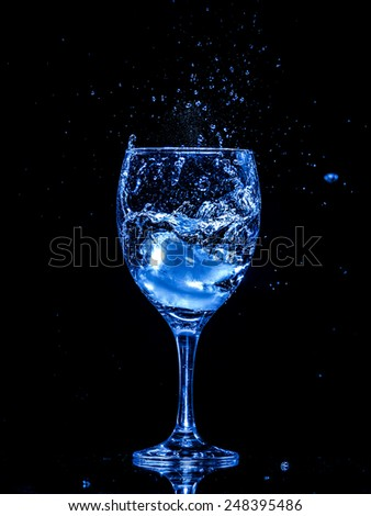 Cup and ice - stock photo