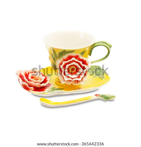 Cup and saucer  - stock photo