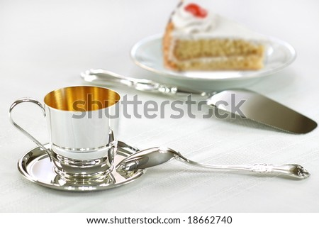 Cup & Cake - stock photo