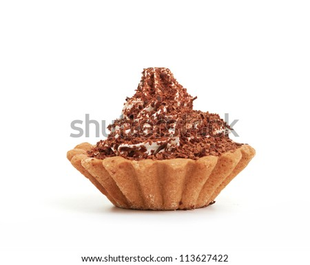 Cup Cake isolated on a white background