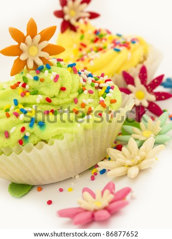 cup cakes - stock photo