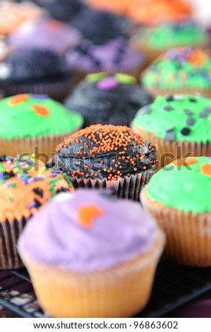 Cup cakes fair - stock photo