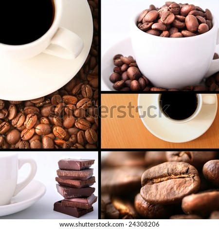cup coffee on table - stock photo