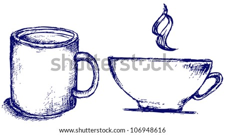 Cup drink. Raster - stock photo