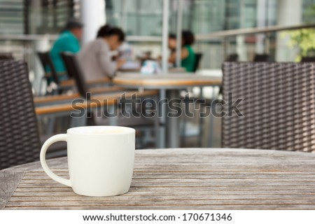 cup of coffee at coffee shop - stock photo