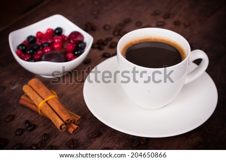 Cup of coffee in brown style - stock photo
