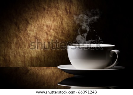 cup of coffee  on a old stone background.