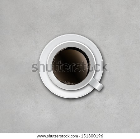 cup of coffee on concrete background