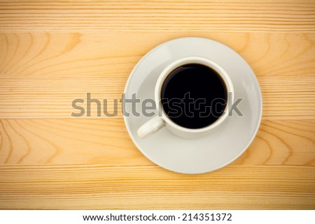 Cup of Coffee on Tabletop
