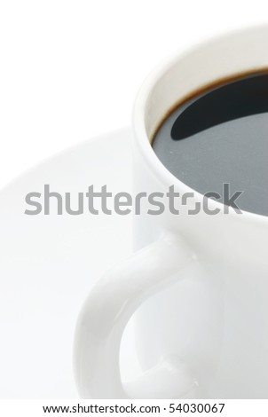 Cup of coffee on white - stock photo