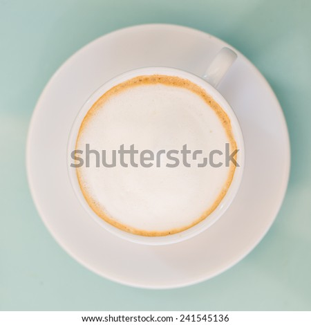 cup of coffee, top view - stock photo