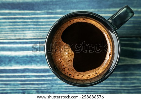 Cup of coffee. Top view - stock photo