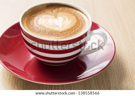 Cup of coffee with boom and foam illustration - stock photo