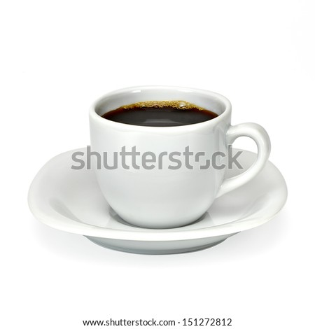 Cup of coffee with clipping path - stock photo