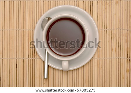 cup of coffee with clipping paths - stock photo