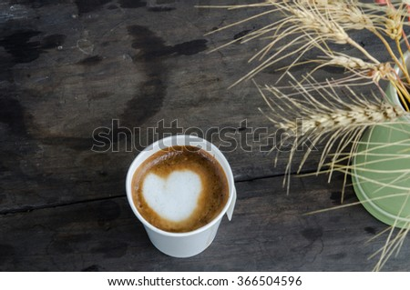 cup of fresh espresso on table - stock photo
