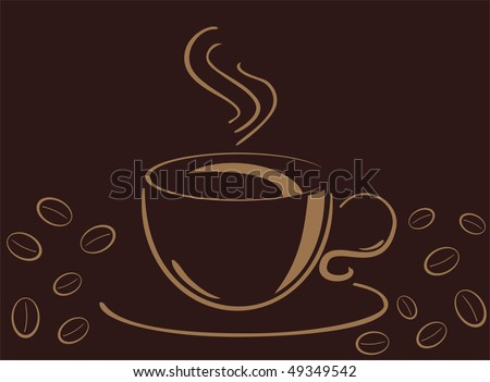 Cup of hot and fresh coffee