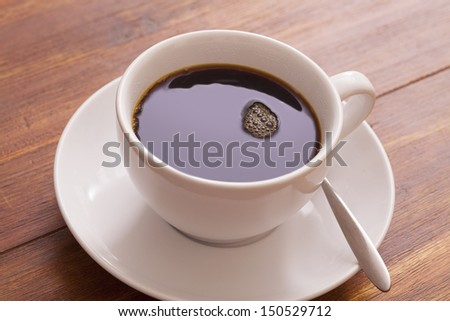 Cup of hot brewed coffee - stock photo