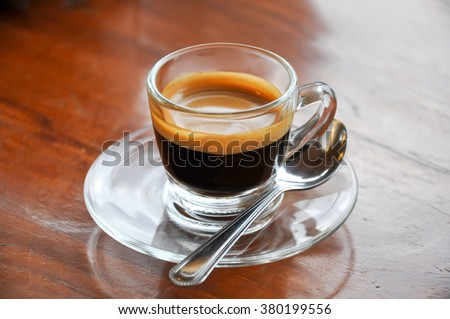 cup of hot Espresso - stock photo
