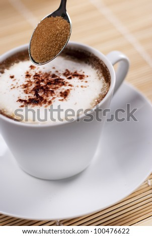 Cup of Italian capuccino