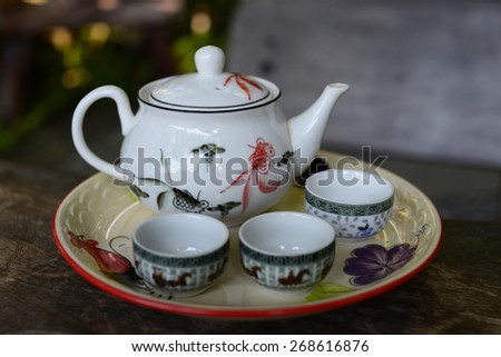 Cup of tea blank and white tone. - stock photo