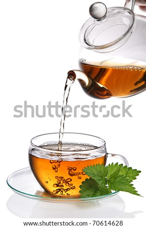 Cup of tea (clipping path included) - stock photo