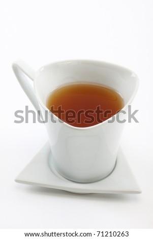 cup of tea over white background - stock photo