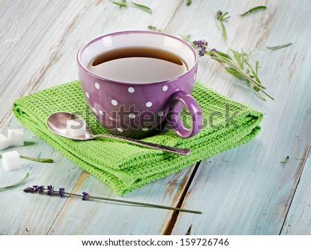 Cup of  tea. Selective focus - stock photo