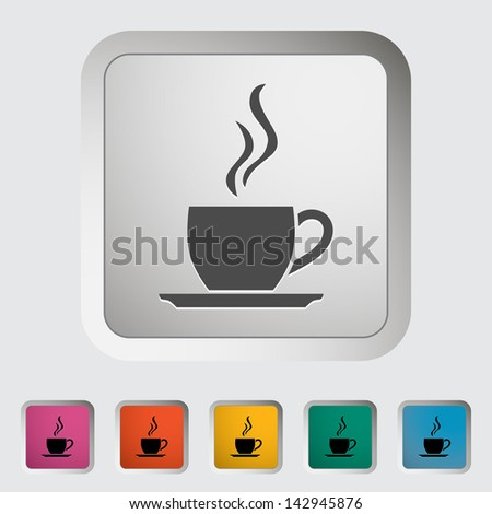 Cup of tea. Single icon. Vector version also available in my portfolio. - stock photo