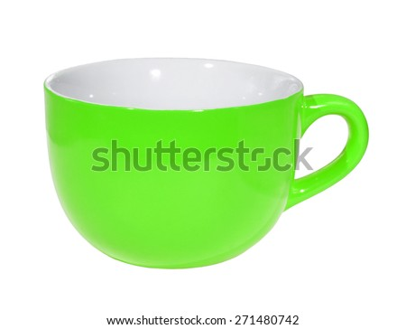 Cup on the white background (isolated).  - stock photo