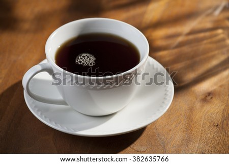 Cup or Black Coffee - stock photo