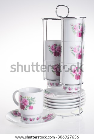 cup sets. cup sets on background - stock photo