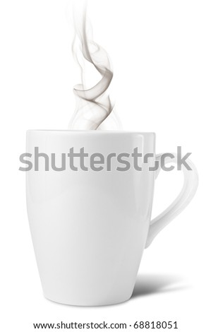 Cup with hot beverage - stock photo