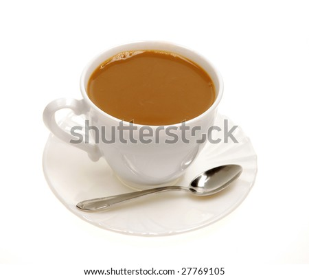 cup with tea with milk