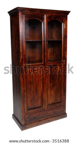 Cupboard taken on a clean white background. - stock photo