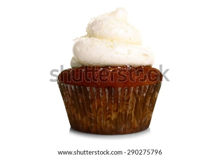 cupcake isolated - stock photo