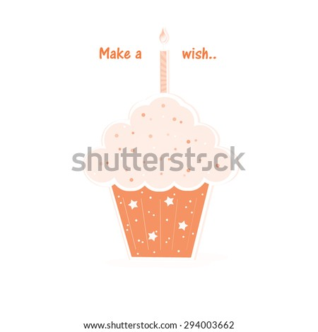 Cupcake - Polka Dot - stock photo