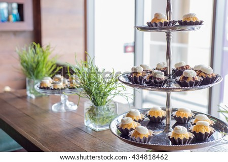 Cupcake Tower - stock photo