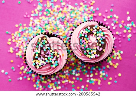 Cupcakes for a 40th birthday - stock photo