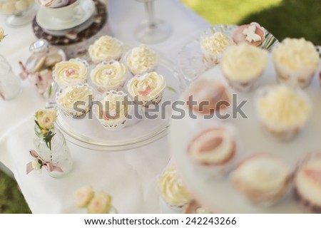 Cupcakes on the table