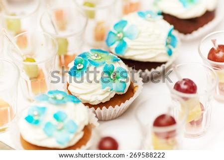 Cupcakes & snacks Shalow DOF - stock photo