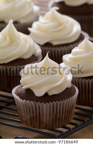 Cupcakes with delicious frosting