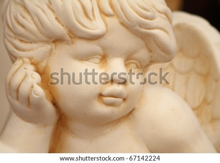 cupid face - stock photo