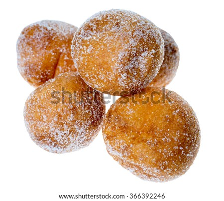 Curd Balls isolated over a white background / Curd Balls - stock photo