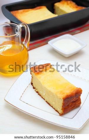 curd casserole - stock photo
