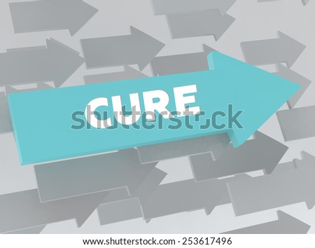 CURE - stock photo