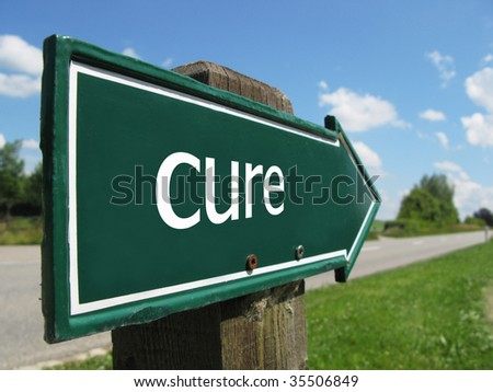 CURE road sign